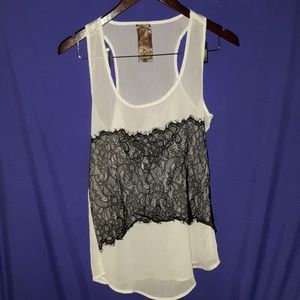 WallpapHer Nordstrom dressy tank sheer lace block